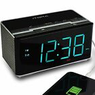 iTOMA Alarm Clock Radio with Wireless Bluetooth Stereo Speakers Digital FM Dual