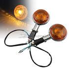 10mm Motorcycle Turn Signal Lights Amber Lens For Honda VTX 1300 R Harley Custom