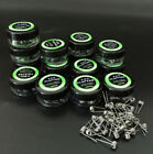 10x Alien Quad Flat-Twisted Clapton Tiger Hive Heating Wire Premade RDA RBA Coil