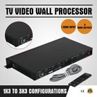 3x3 TV Channel Video Wall Processor Controller Splitter Switcher HDMI VGA DVI AV