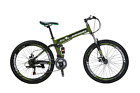"Folding Mountain Bike 26"" 21 Speed Bicycle MTB Foldable Frame ArmyGreen"