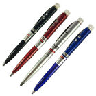 3 in 1 Red Laser Pointer + Ballpoint Pen + LED Flashlight Black Lamp Q1