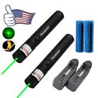2PC Military Green Laser Pen Powerful Burning Beam 30Mile 5mw 532nm+Batt+Charger