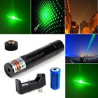 Powerful 2NI1 Green Laser Pointer Pen 30Mile 5mw 532nm Star Cap+Battery+Charger