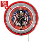 "15"" American Firefighter Red Garage Neon Garage Clock from Redeye Laserworks"