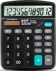 Calculator KDT Handheld Standard Function Desktop 12 Digit Dual Power Gadgets