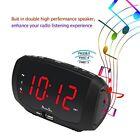 DreamSky Digital Alarm Clock Radio With Dual USB Ports For Phone Charging FM LED
