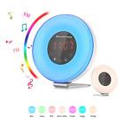 Alarm Clock, SMARTRO 2018 Digital Alarm Clock Radio with Colored Sunrise Simulat
