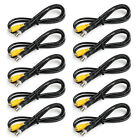 10Pc BNC Male to RCA Female 75ohm Coaxial Cables CCTV Surveillance Camera 1M US