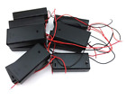 Honbay 10pcs 2AA Battery Holder Storage Case with Wires and On/Off Switch