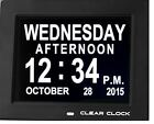 Clear Clock Digital Memory Loss Calendar Day Clock With Optional Day Cycle Mode
