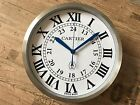 NEW CARTIER RONDE SOLO DEALER SHOWROOM WALL CLOCK LIMITED EDITION
