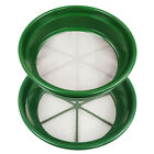 """Green Plastic Gold Sifting Pan Classifier Stackable Mesh Sizes 1/8 & 1/100"""""""