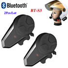 BT-S3 1000M Intercom Motorcycle Helmet Bluetooth Headsets Interphone FM Radio x2