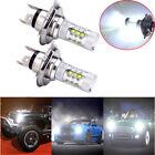 2Pcs H4 80W LED Bright White Headlights Bulbs Lamp For Yamaha Snowmobiles