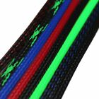 Multi-SIZES&COLOR 30FT - 100FT Expandable Wire Cable Sleeve Braided Tubing LOT