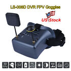 """4.3"""" LS-008D DVR Diversity FPV Goggles 5.8G 40CH w/2000mAh Battery For RC Drone"""