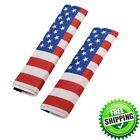 2Pcs American US Flag Seat Belt Cover Shoulder Pad Cushion