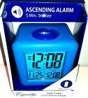 Equity Soft Cube LCD Travel Alarm Clock w/Silicone Rubber Case New Neon Blue