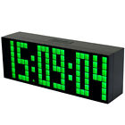 Modern Large Wall Clock Led Digital Alarm Clock Table Desk Countdown Watch Gift