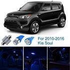 8pcs Blue Interior LED Light Package Kit For 2010-2013 2014 2015 2016 Kia Soul