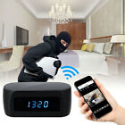 32GB 1080P WIFI IP Spy micro camera Home Security Hidden mini DVR Alarm Clock IR