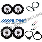 Kit 4 coffers for FIAT 500 Alpine with adapters e holders
