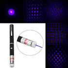 Blue Purple Laser Pointer Pen Visible Beam Light Star Cap Projector Flowery