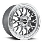 "18"" x9.5 Rotiform LSR R155 Silver 5x100 25 ET R155189579+25 Single Rim"
