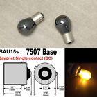 Amber Chrome Bulb Front Signal Light BAU15S 7507 PY21W 150 degree W1 JAE