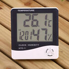 Digital LCD Thermometer Hygrometer Clock Temperature Humidity Sensor Meter Gauge