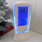 Creative LED luminous music meter clock alarm clock calendar clock blue back XG