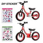 ENKEEO 14'' Sport Balance Bike Kids Learn to Ride Adjustable Seat w/ DIY Sticker
