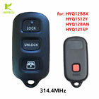 Replacement Keyless Entry Remote Key Fob 314.4MHz for HYQ12BAN,HYQ12BBX,HYQ1512Y