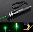 Zoomable 20 Miles Green Laser Pointer Pen 4mW 532nm Mini Rechargeable Visible US