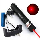 Adjustable Focus Red Laser Pointer Pen 650nm Single Beam Light+Battery+Charger