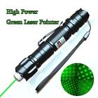 18650 Green Laser Pointer Pen Star Cap Belt Clip Rechargeable 2In1 532nm 4mW USA