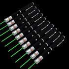 10PC 1mW 532nm Visible Beam  Green Laser Pointer Pen Handheld Portable AAA Lazer