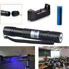 405nm Blue Purple Laser Pointer Pen Cat Toy Laser Beam+18650 Battery+Charger