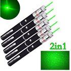 5x 2in1 Mini Green Laser Pointer Pen 532nm AAA Single Beam Light Star Pattern