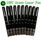 10x AAA Green Laser Pointer Pen Visible Beam 532nm Cat Toy Mini Lazer Pen Batch