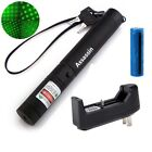 Zoomable Green Laser Pointer Pen 4mw 532nm Bright Rechargeable+Battery+ Charger