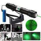 2in1 Star Pattern Green Laser Pointer Pen 532nm 50Mile Belt Clip+Battery+Charger