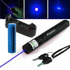 405nm Blue purple Laser Pointer Pen Visible Laser Beam Light+Battery+Charger