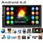 """7"""" Android 6.0 Car GPS Nav Stereo Radio HD Quad Core 3G WIFI 2DIN MP5 Player US"""