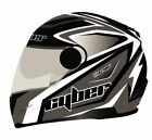 Cyber Helmets US-108 Full Face Bolt Helmet Silver/Black Md