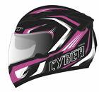 Cyber Helmets US-80 Boomerang Full Face Helmet Black/Pink Sm
