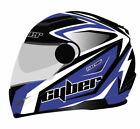 Cyber Helmets US-108 Full Face Bolt Helmet Blue/Black Md