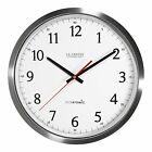La Crosse Tech. 404-1235UA-SS 14 Inch UltrAtomic Analog Stainless Steel Clock