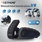 V8 1200M NFC 5 Riders Motorcycle Helmet Bluetooth Intercom Headset with Remote